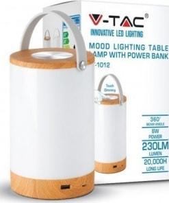 Nešiojamas 6W stalinis LED šviestuvas V-TAC su dimeriavimo ir powerbank funkcijomis