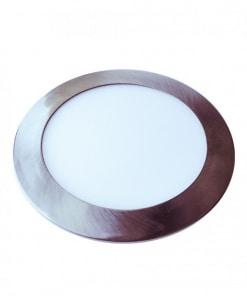 Satino nikelio spalvos įleidžiama šviesos panelė V-TAC Slim 6W-24W