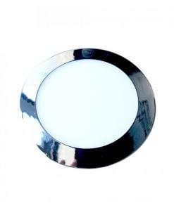 Chromos spalvos įmontuojama panelė V-TAC Slim 6W-24W