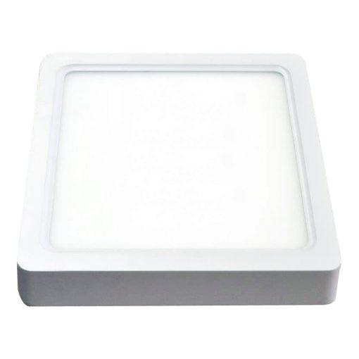 Paviršinė kvadratinė LED panelė V-TAC šviečianti šiltai balta šviesos spalva 8W-22W