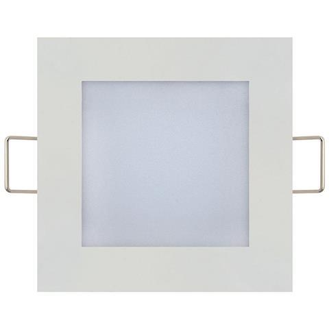 9W įmontuojama kvadratinė LED panelė HOROZ su maitinimo šaltiniu