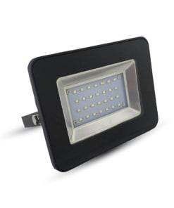 20W juodas LED prožektorius V-TAC su metalo spalvos reflektoriumi