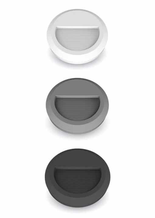 2W apvalus paviršinis šviestuvas laiptų ar grindinio apšvietimui IP65