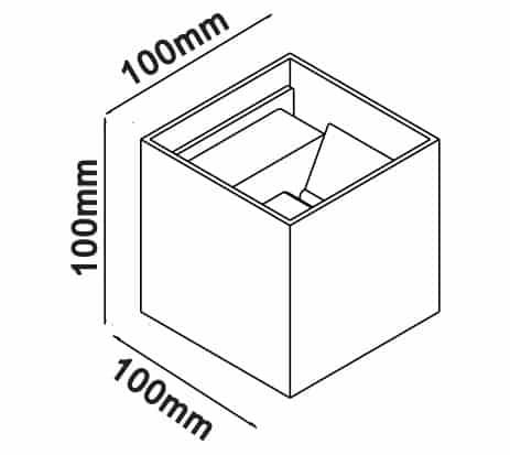 6W kvadratinis sieninis šviestuvas V-TAC su reguliuojamu šviesos kampu (Juoda, Balta, Pilka)