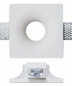 Kvadratinis užglaistomas berėmis šviestuvas su užapvalintu lemputės igilinimu V-TAC