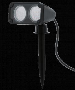 Įsmeigiamas sodo šviestuvas su dvejomis lempomis NEMA1