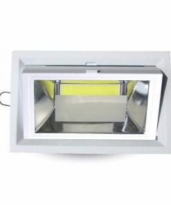 30W įleidžiamas LED šviestuvas V-TAC COB šviečiantis neutraliai balta šviesos spalva