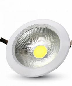 30W apvalus įmontuojamas LED šviestuvas COB lustas A++ energijos klasė