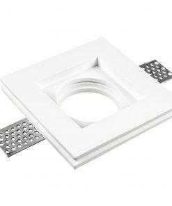 Užglaistomas berėmis kvadratinis šviestuvas V-TAC iš gipso 100x100