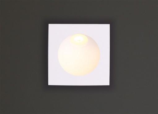 Kvadratinis įleidžiamas šviestuvas laiptams TIME IP54