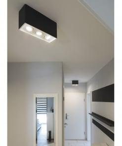 Lubinis kryptinis dažomas šviestuvas PLASTRA BOX 3