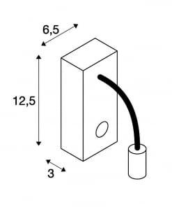 Sieninis LED šviestuvas skaitymui prie lovos SLV PIPOFLEX