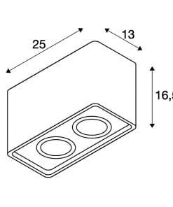 Lubinis dažomas šviestuvas PLASTRA BOX 2