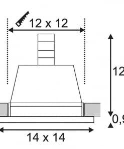 Įleidžiamas dažomas netiesioginis šviestuvas PLASTRA