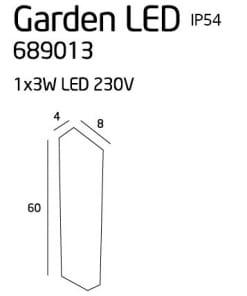 Sodo šviestuvas GARDEN LED IP54