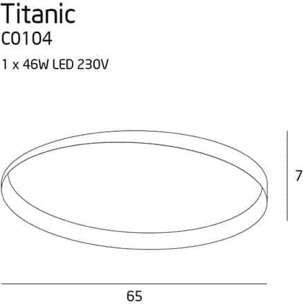 Plafonas TITANIC