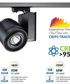 33W LED Šviestuvas ant bėgelio V-TAC neiškraipantis spalvų