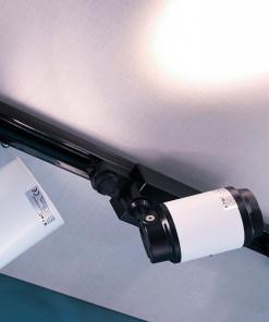 10W-35W LED šviestuvas ant bėgelio V-TAC juodai baltu korpusu