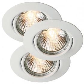 Įleidžiamas reguliuojamos krypties šviestuvas TRITON (3vnt.)