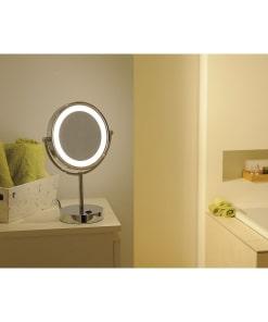 Pastatomas šviestuvas su veidrodžiu vonios kambariui SLV VISSARDO