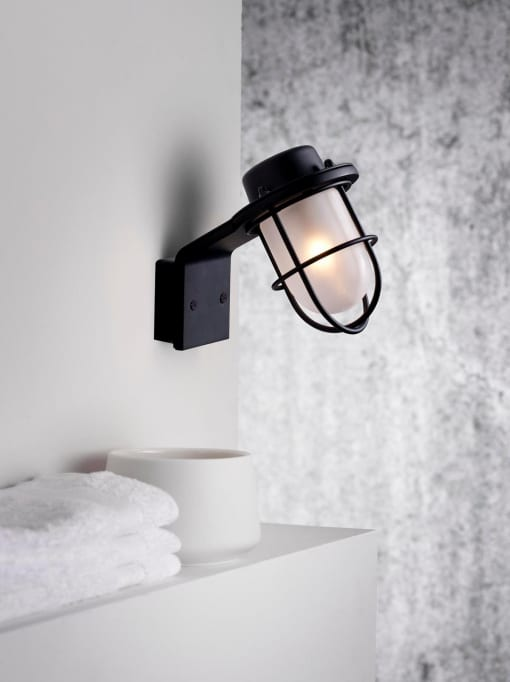 Sieninis šviestuvas Nordlux MARINA juodas
