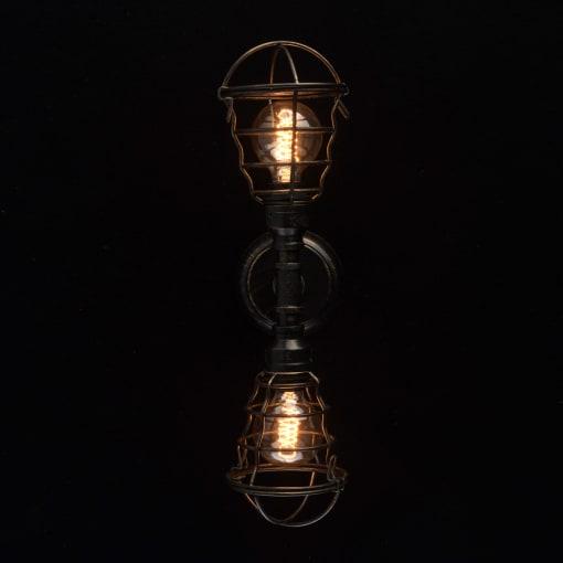 Sieninis šviestuvas su dvejomis lempomis MW-LIGHT Loft