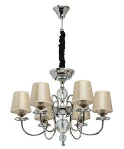 Pakabinamas šviestuvas su šampano spalvos gaubteliais MW-LIGHT Elegance
