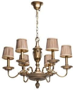 Klasikinio stiliaus šviesaus žalvario šviestuvas CHIARO Classic
