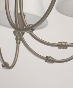 Pakabinamas šviestuvas su baltais gaubteliais MW-LIGHT Neoclassic