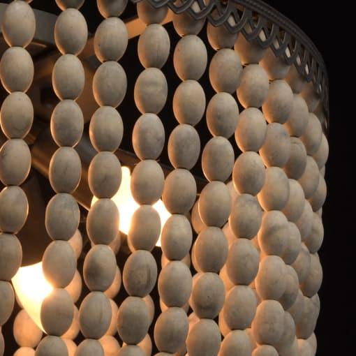 Lubinis šviestuvas su medžio karoliukais RegenBogen Loft