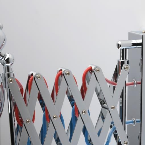 Sieninis šviestuvas chromuotu korpusu MW-LIGHT loft