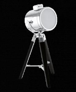 Stalo šviestuvas su chromo spalvos gaubtu EGLO UPSTREET