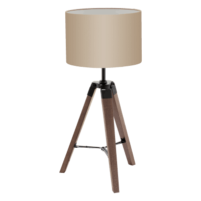 Trikojis stalo šviestuvas su tekstilės gaubtu EGLO LANTADA