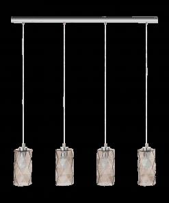 Pakabinamas šviestuvas su 4 stiklo gaubtais ESTEVAU