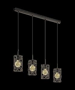 Pakabinamas šviestuvas su 4 plieno gaubteliais ESTEVAU