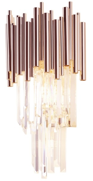 Sieninis šviestuvas iš stiklo ir metalo kompozicijos VOGUE