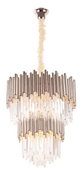 Pakabinamas šviestuvas iš stiklo ir metalo kompozicijos VOGUE16