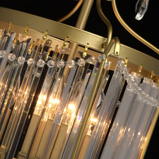 Būgno formos krištolinis šviestuvas CRYSTAL