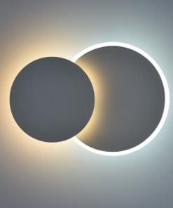 Atsparus drėmei apvalus sieninis LED šviestuvas DEMARK