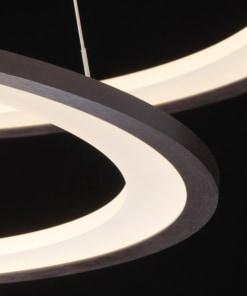 Žiedos formos LED šviestuvas su nuotoliniu valdymo RegenBogen 120W