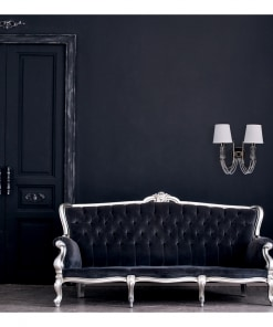 Modernios klasikos sieninis šviestuvas su baltais tekstilės gaubteliais MW-LIGHT