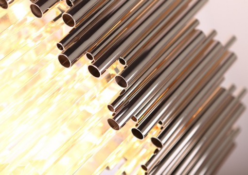Pakabinamas šviestuvas iš stiklo ir metalo kompozicijos VOGUE