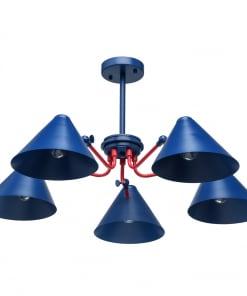 Industrinio stiliaus mėlynas lubinis šviestuvas MW-LIGHT