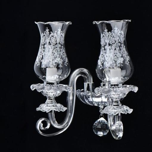 Stiklo ir chromo klasikinis sieninis šviestuvas MW-LIGHT