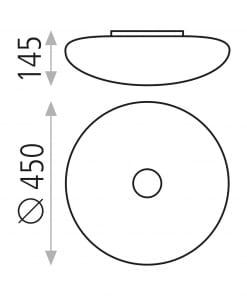 Lubinis šviestuvas su opalinės baltos spalvos gautu ACB ASER