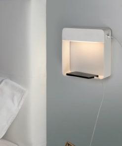 Sieninis LED šviestuvas lentynėlė su USB krovikliu ACB DENVER