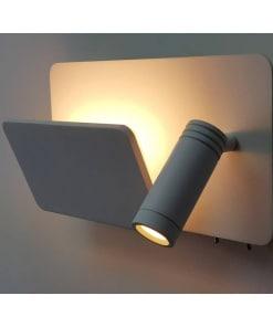Sieninis LED šviestuvas skaitymui su USB jungtimi ACB LAIKA