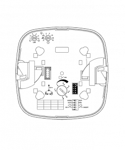 Paviršinio montavimo IR precizinis (būvio) judesio jutiklis IR QUATTRO HD COM1AP