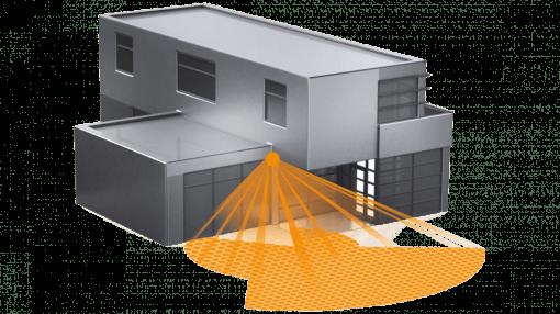 IR judesio jutiklis SensIQ EVO 2500W IP54 pastato fasadui ir patalpoms