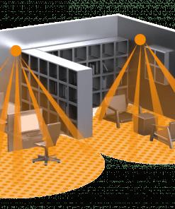 Įleidžiamas į lubas judesio jutiklis IS D360 skirtas nedidelėms vidaus patalpoms